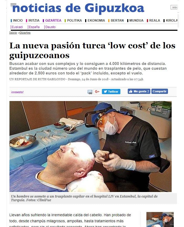 cliniFUE en Noticias de Gipuzkoa