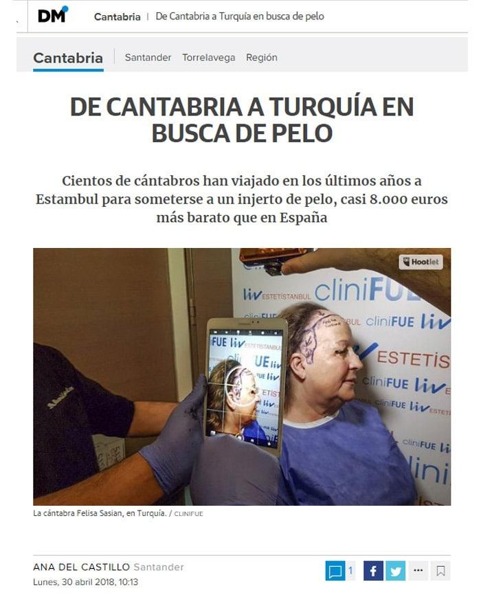 Entrevista a Felisa en el Diario Montañés de Cantabria