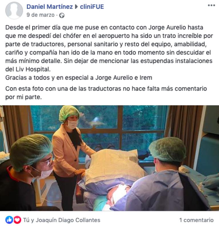 Opinión pacientes cliniFUE