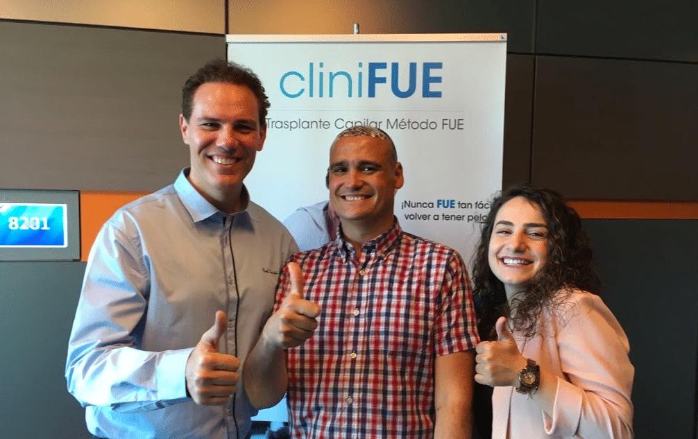 Paciente Raul de Alicante cliniFUE
