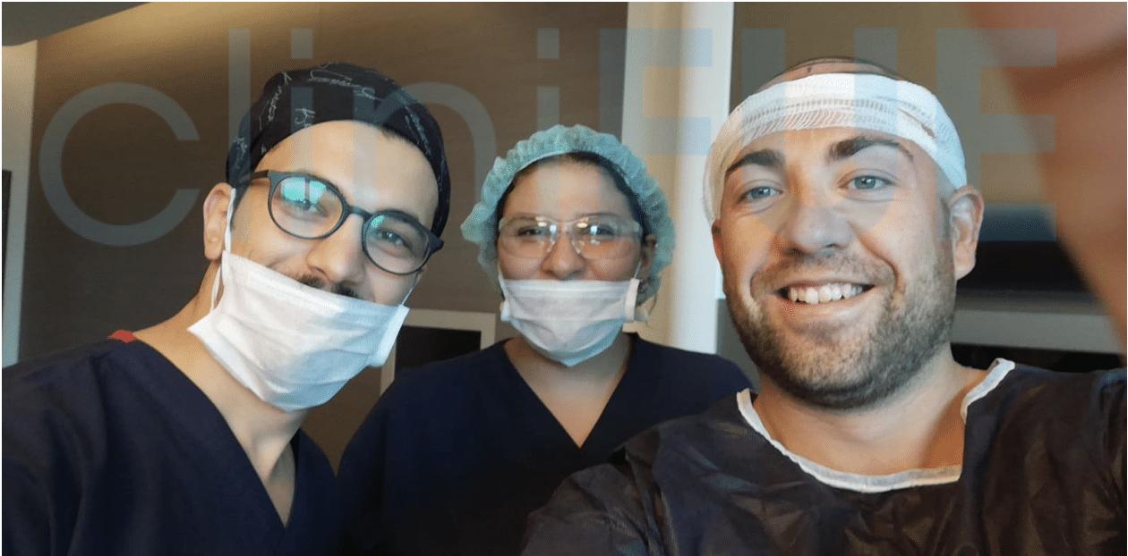 Injerto capilar de Carlos 30 Años de Madrid con cliniFUE