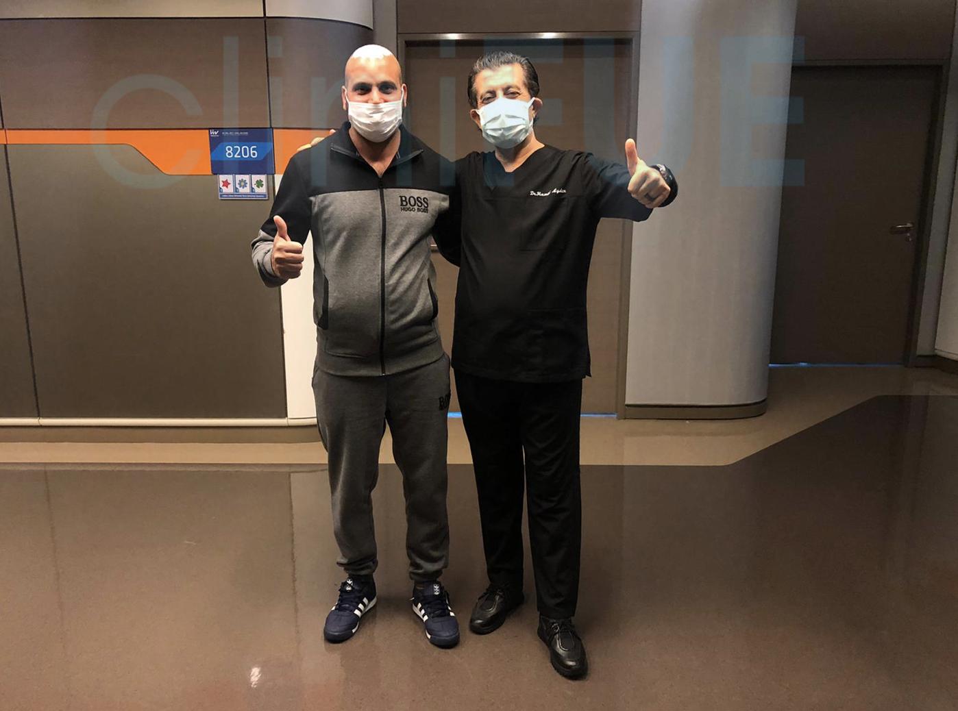 Injerto capilar de Muhammad 39 Años de Barcelona con cliniFUE